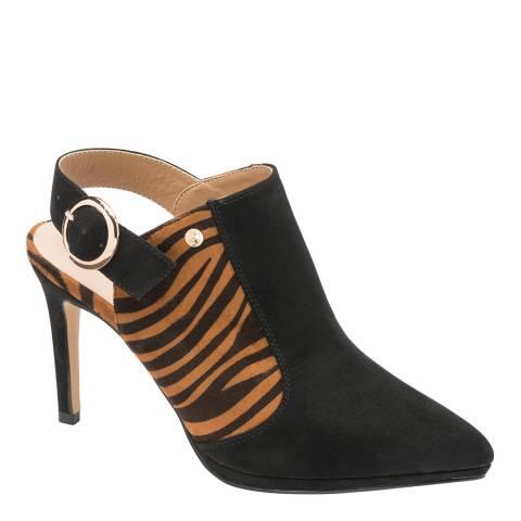 Ravel Black Zebra Print Bayamo Court Shoe