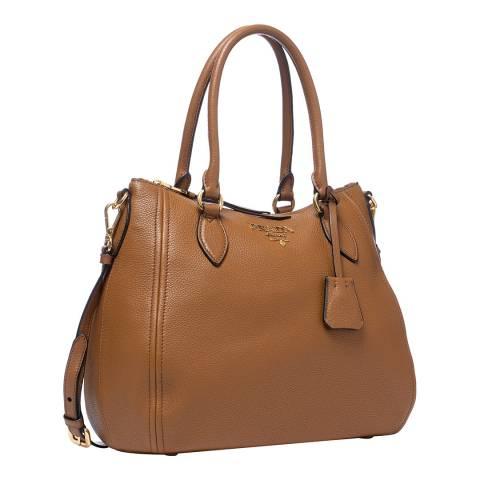 Prada Cinnamon Leather Shoulder Bag