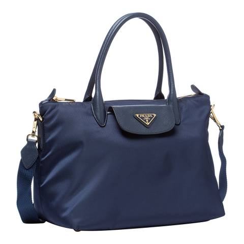 Prada Navy Top Handle Bag