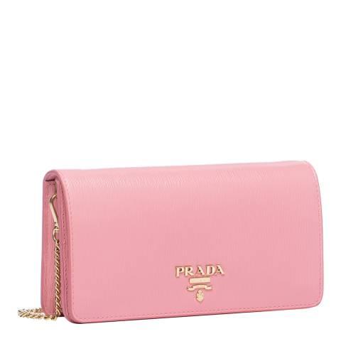 Prada Petal Pink Gold Chain Crossbody Bag