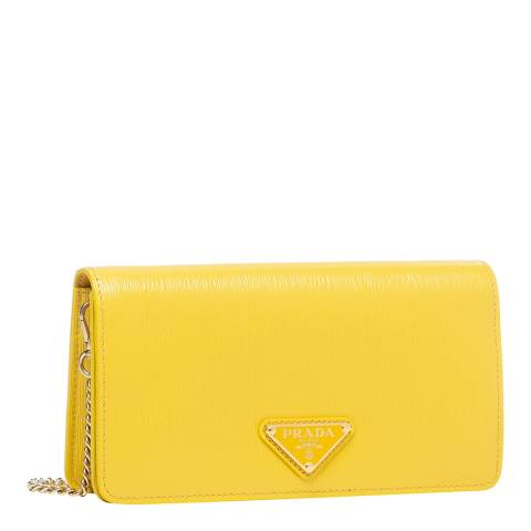 Prada Sunny Yellow Leather Crossbody Bag