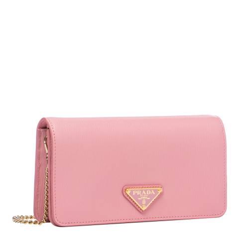Prada Petal Pink Leather Crossbody Bag