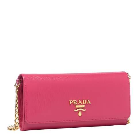 Prada Fuchsia Pink Gold Chain Crossbody Bag