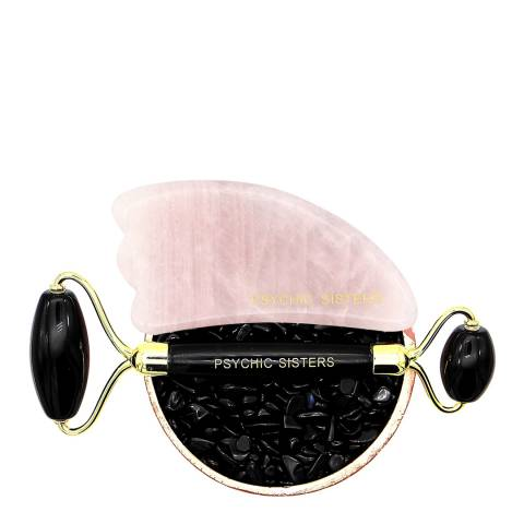 Psychic Sisters Black Obsidian Facial Roller and Gua Sha Set Worth £45