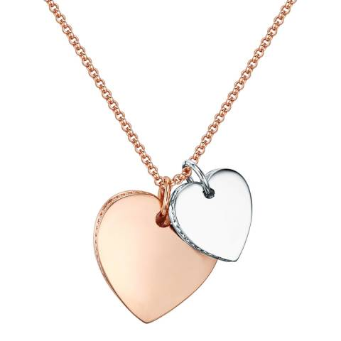 Runway Rose Gold/Silver Heart Necklace