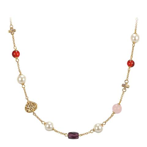 Runway Gold/Multi Coloured Pearl Necklace