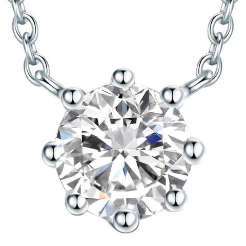 Carat 1934 Silver Crystal Necklace