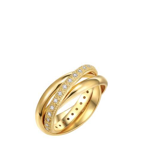 Runway Gold Crystal Crossover Ring