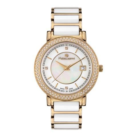 Mathieu Legrand Women's Gold/White Stainless Steel Quartz Watch