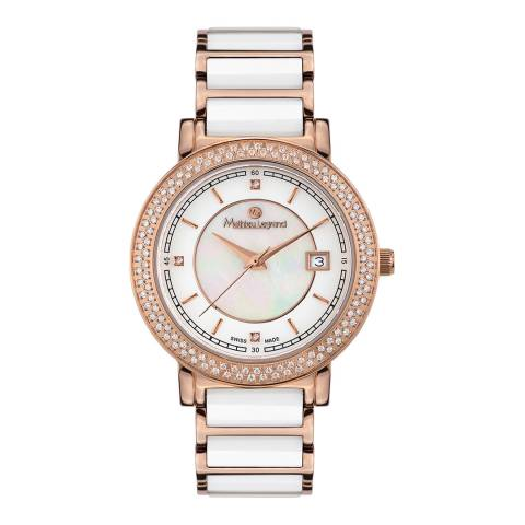 Mathieu Legrand Women's Rose Gold/White Stainless Steel Quartz Watch