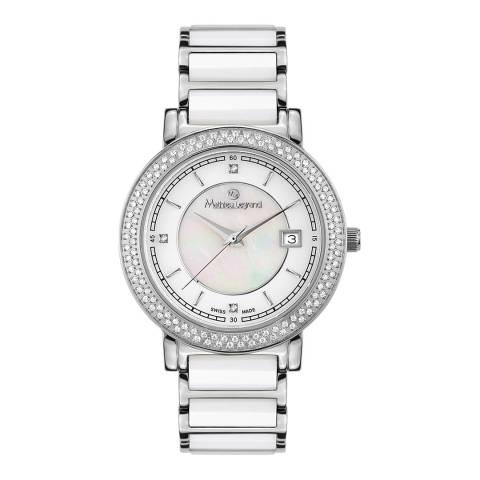 Mathieu Legrand Women's Silver/White Stainless Steel Quartz Watch