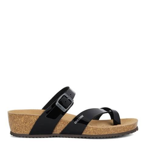 Geox Black Sthellae Mule Sandals