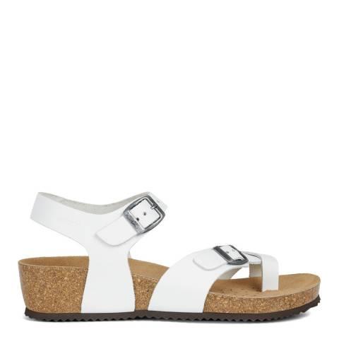Geox White Sthellae Sandals