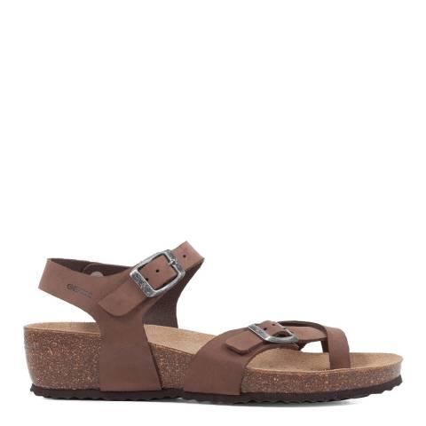 Geox Coffee Sthellae Sandals