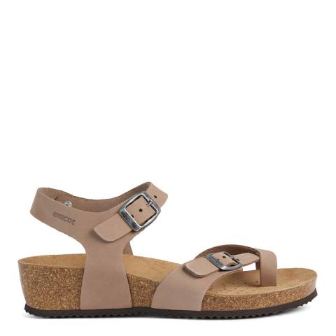 Geox Taupe Sthellae Sandals