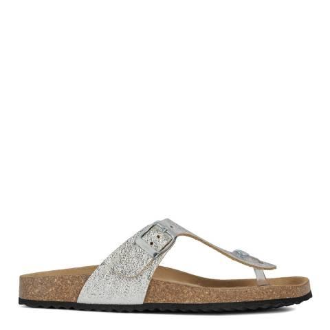 Geox Silver Brionia Sandals