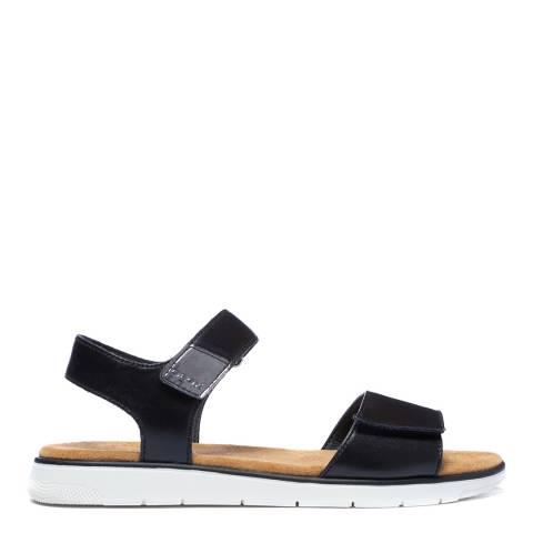 Geox Black/Gun Dandra Sandals