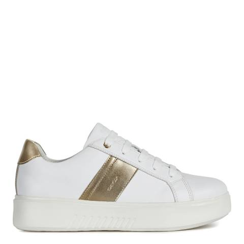 Geox Optic White/Gold Nhenbus Pearl Sneakers
