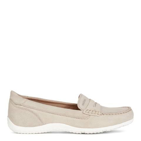 Geox Taupe Vega Suede Moccasins