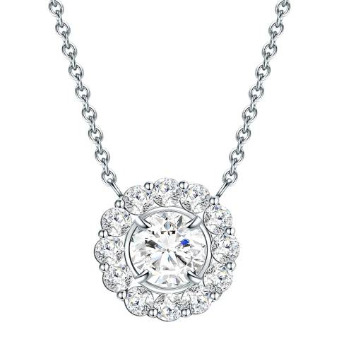 Carat 1934 Silver Crystal Necklace