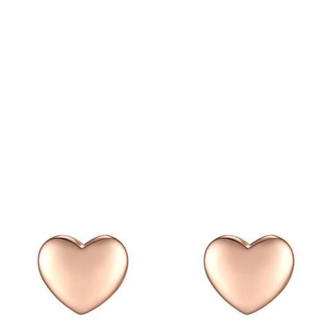 Carat 1934 Rose Gold Heart Earrings