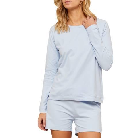 N°· Eleven Blue Cotton Jersey Short Set