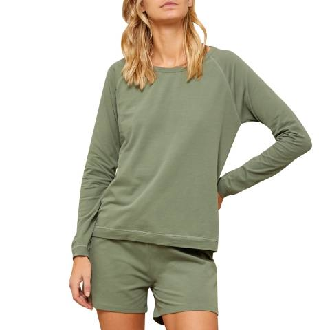 N°· Eleven Sage Cotton Jersey Short Set