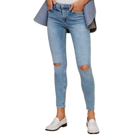 Mango Bleach Blue Kim Skinny Push-Up Jeans