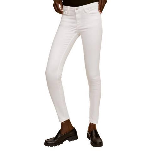 Mango Off White Slim Fit Jeans