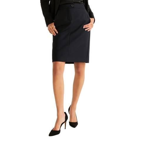 Mango Black Pencil Skirt