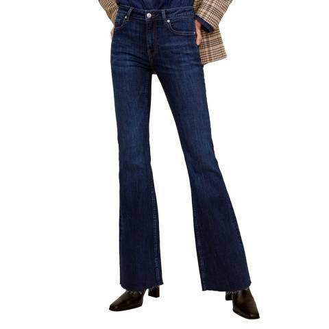 Mango Dark Blue Flared Jeans