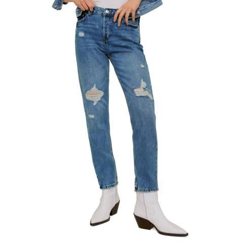 Mango Medium Blue Slim-Fit Jeans
