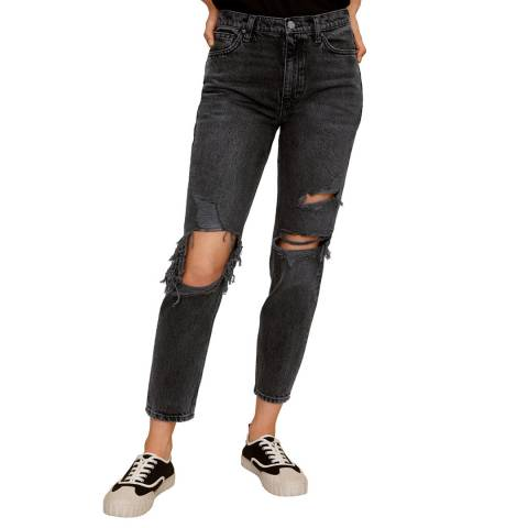 Mango Black Denim Mom-Fit Jeans