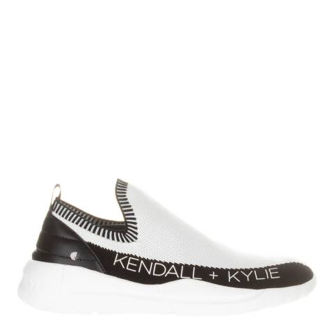 Kendall + Kylie White/Black Nella Slip On Sneakers