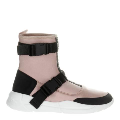Kendall + Kylie Pink/Black Nemo Vegan Suede Sock Sneakers