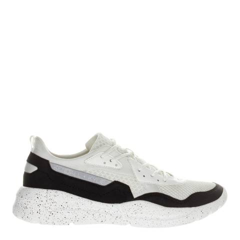 Kendall + Kylie Black/White Nikki Suede Panelled Sneakers