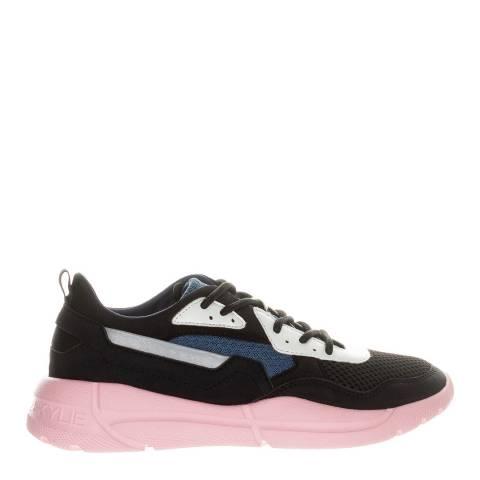 Kendall + Kylie Black/Blue Nikki Vegan Suede Panelled Sneakers