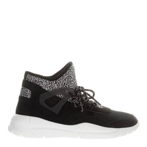 Kendall + Kylie Black North Vegan Suede Sock Sneakers