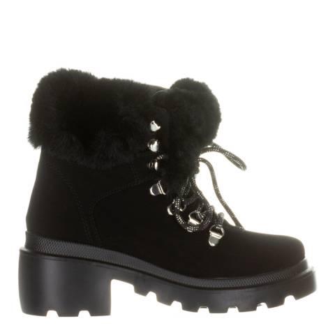 Kendall + Kylie Black Roan Vegan Leather Hiker Boots