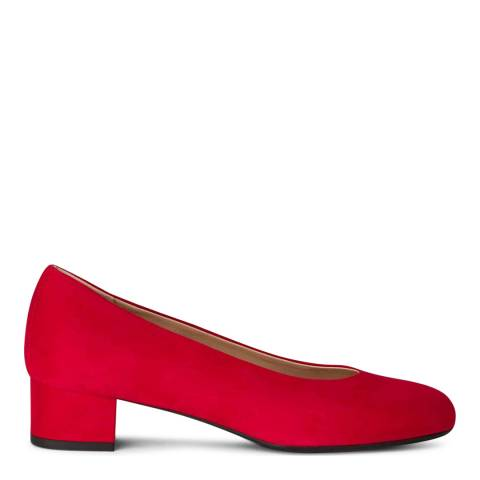 Hobbs London Pippa Court Scarlet Red Fine Suede Courts