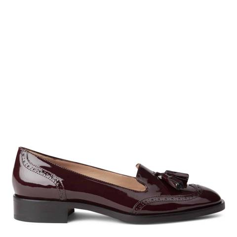 Hobbs London BRYONY LOAFER MULBERRY PATENT FLATS