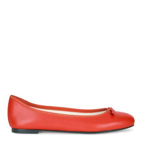 Hobbs London Flo Ballerina Orange Red Fine Suede Flats