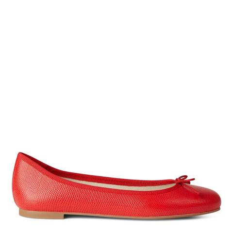 Hobbs London Flo Ballerina Red Animal Print Flats