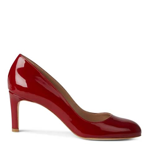Hobbs London Sophia Court New Deep Red Patent Courts