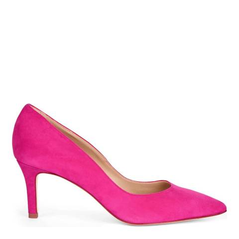 Hobbs London Grace Court Cerise Fine Suede Flats