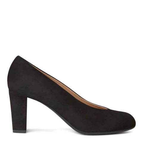 Hobbs London Sloane Court Black Fine Suede Courts