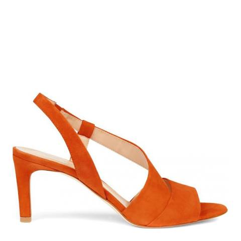 Hobbs London Leah Sandal Sunset Orange Fine Suede Sandals