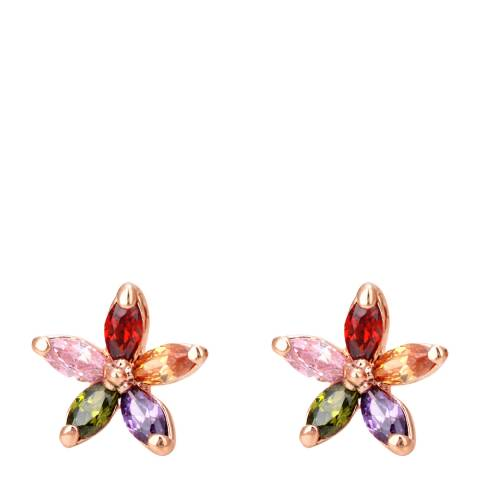 Ma Petite Amie Multi/Rose Gold Plated Earrings with Swarovski Elements