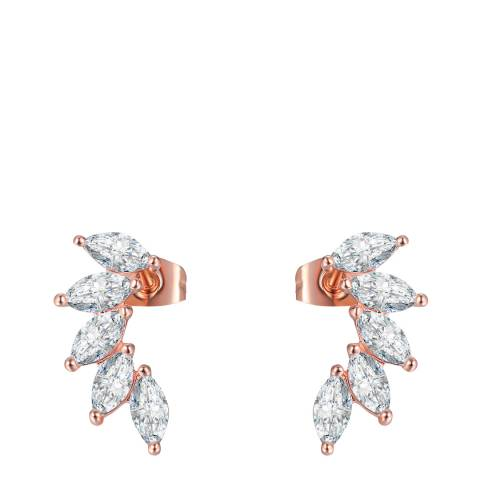 Ma Petite Amie Rose Gold Plated Stud Earrings with Swarovski Elements