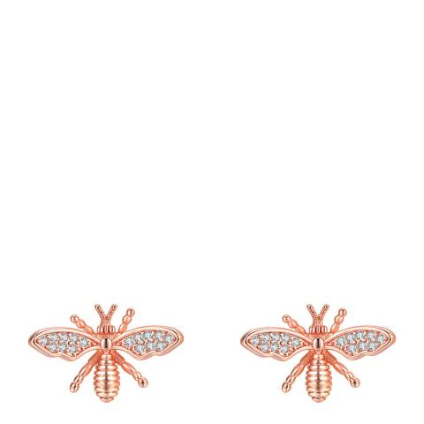 Ma Petite Amie Rose Gold Plated Bee Earrings with Swarovski Elements